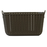 5 Pack Small Rattan Effect Storage Basket (Olive)
