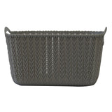 Small Rattan Effect Storage Basket (Silver)