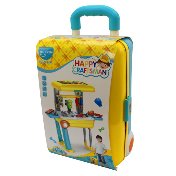 Happy Craftsman Childrens Toy Mechanic Workshop Playset