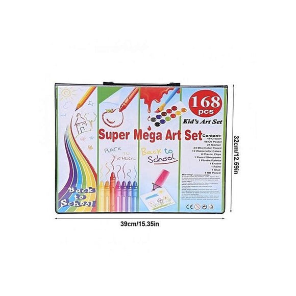 168 Piece Kids Painting and Drawing Art Set