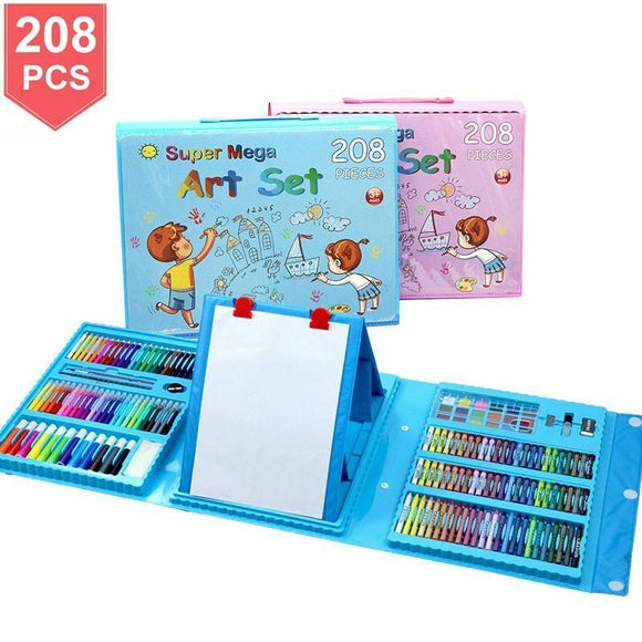 208 Piece Kids Painting and Drawing Art Set