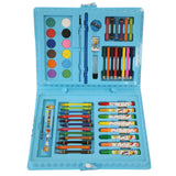 68 Piece Kids Painting and Drawing Art Set (Blue)