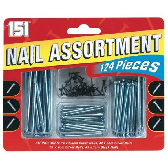 151 Nail Assortment Set (124 Pieces)