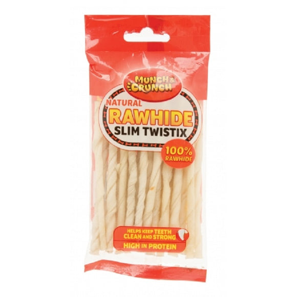 Munch Crunch Natural Rawhide Twist Sticks (80g)
