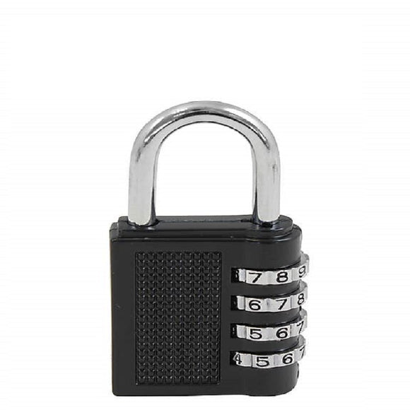 4 Digit Padlock (Black)