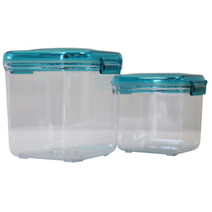 Airtight Food Preservation Storage Container (1.1L+2.2L) (Blue)
