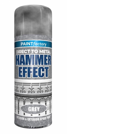 Paint Factory Hammer Effect Grey Spray Paint 400ml - 7145