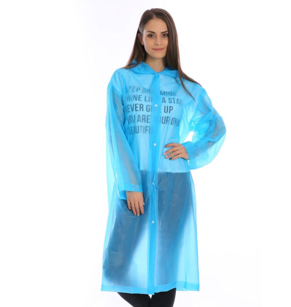 Reusable Waterproof Raincoat (Blue)