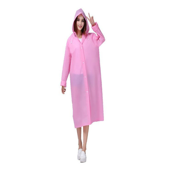 Reusable Waterproof Raincoat (Pink)