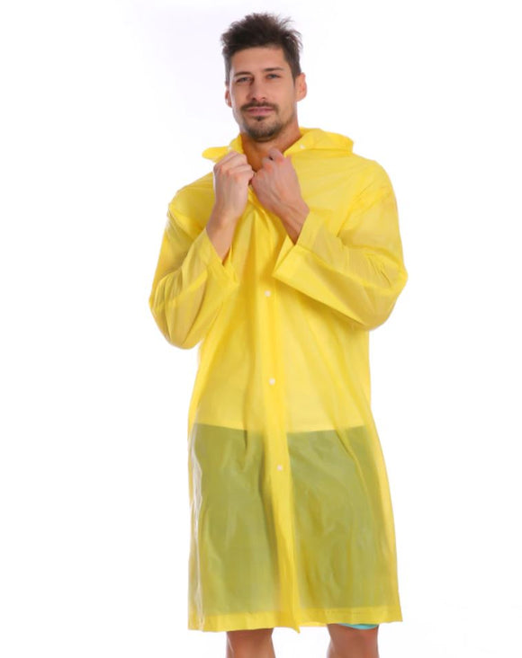 Reusable Waterproof Raincoat (Yellow)