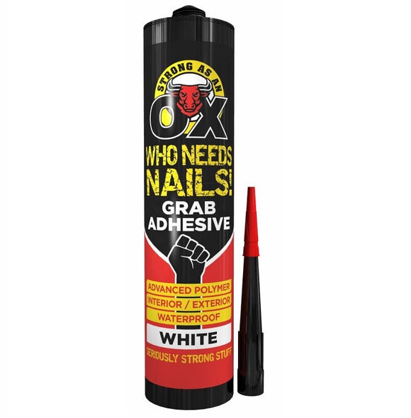 OX Grab Adhesive White 280ml