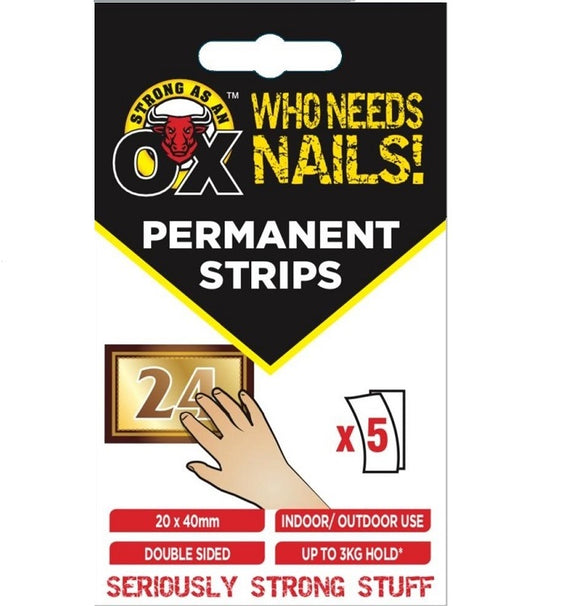 OX Who Needs Nails Permanent Strips 24x5