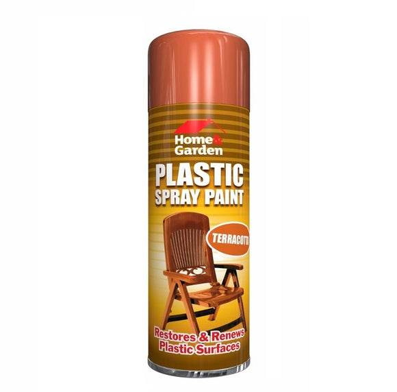 Home & Garden Terracotta Plastic Spray Paint 300ml