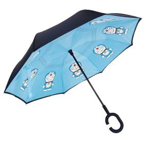 Double Layer Reverse Umbrella (Blue with Graphic)