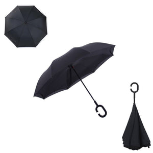 Double Layer Reverse Umbrella (Black)