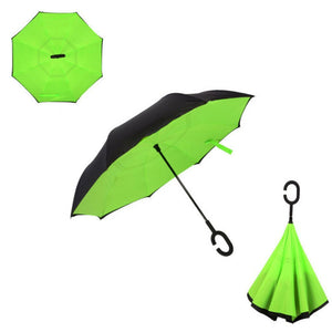 Double Layer Reverse Umbrella (Green Lime)