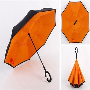 Double Layer Reverse Umbrella (Orange)