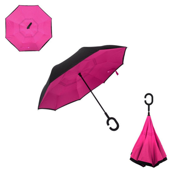 Double Layer Reverse Umbrella (Pink)