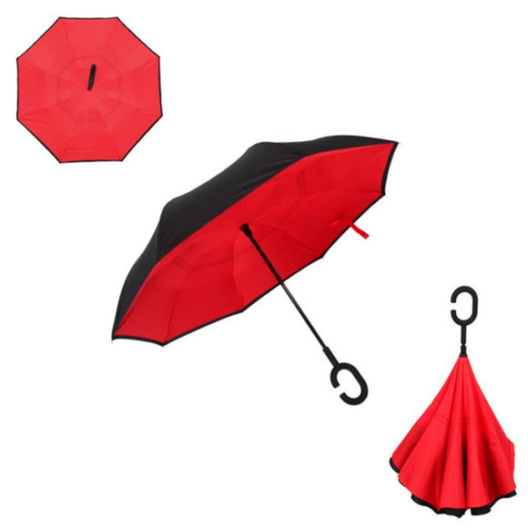 Double Layer Reverse Umbrella (Red)