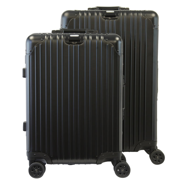 Rock Aluminium Travel Suitcase (20 Inch Black)
