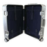 Rock Aluminium Travel Suitcase (20 Inch Silver)