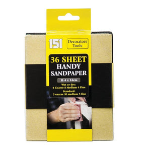 151 36pk Assorted Sandpaper Sheets