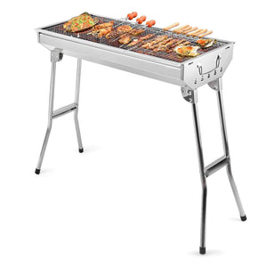 Portable Charcoal BBQ Grill with Foldable Stand