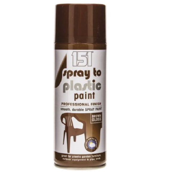 151 Spray To Plastic Brown Gloss - 400ml