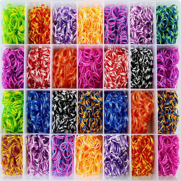 2800 Piece Rubber Band Collection Set (Stripes)