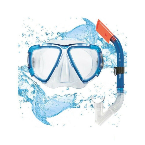 Bestway Diving Snorkel Goggles & Mask (Adult Blue)