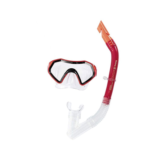 Bestway Diving Snorkel Goggles & Mask (Youth Red)