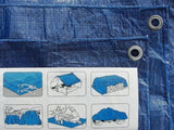 Heavy Duty Waterproof Tarpaulin 4x10m (Blue)