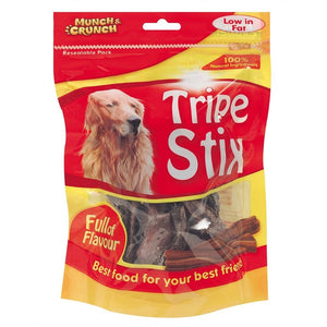 Munch Crunch Tripe Stix Dog Snack (100g)