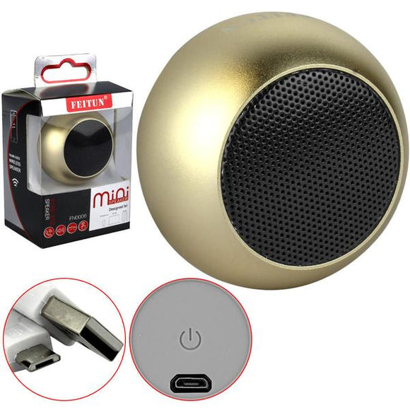 Feitun Mini Bluetooth Speaker (Gold)