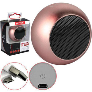 Feitun Mini Bluetooth Speaker (Pink)
