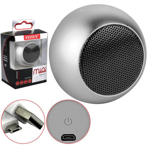 Feitun Mini Bluetooth Speaker (Silver)