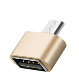 Aluminium USB 2.0/Micro USB Adaptor/Connector (Gold)