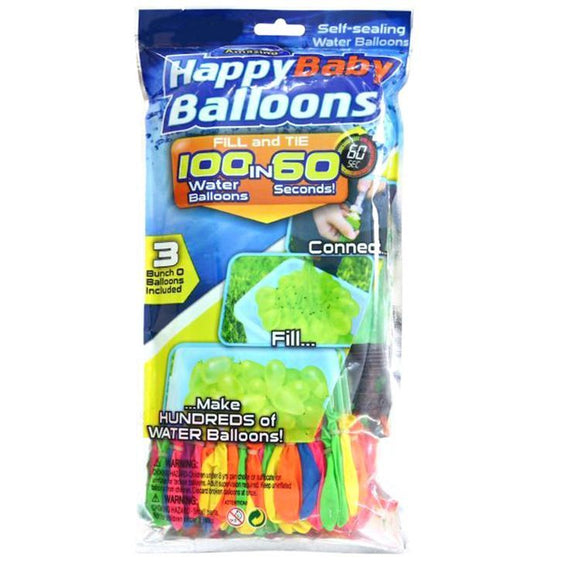 Mini Self Sealing Water Balloons 3Pack (300 Balloons)