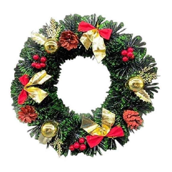 Large Decorated Christmas Wreath 40cm 16