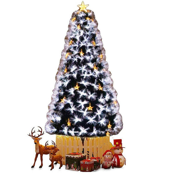 LED Fibre Optic Cold White Christmas Tree - 8FT