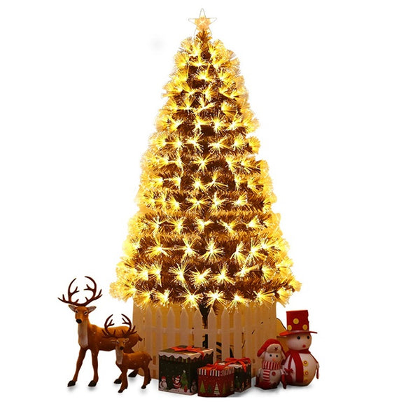 LED Fibre Optic Warm White Christmas Tree - 6FT