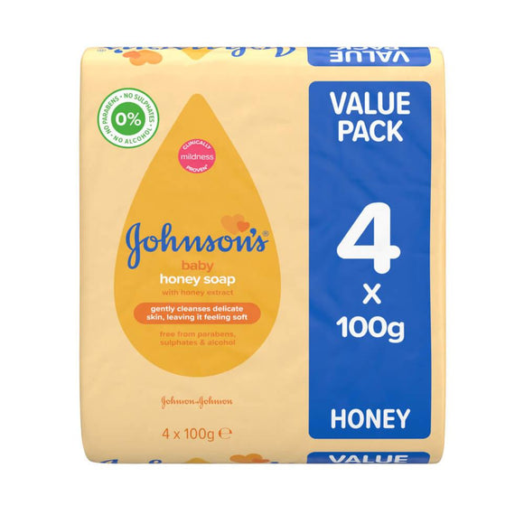 Johnson's® Baby Honey Soap 4x100g