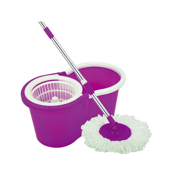 Bucket Cleaning Mop Purple