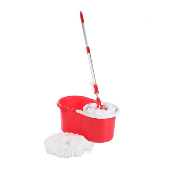 Bucket Cleaning Mop Red