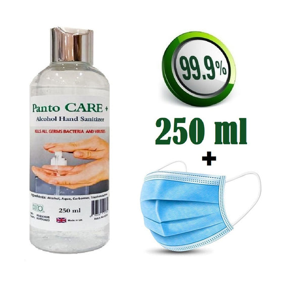 Panto CARE+ Alcohol Hand Sanitiser (250ml)