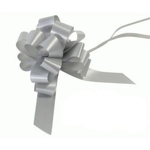 10 Piece Gloss Gift Bow (Silver)