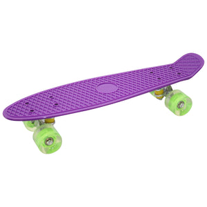 "Skateboard Cruiser 22"" LED Wheels (Purple)"