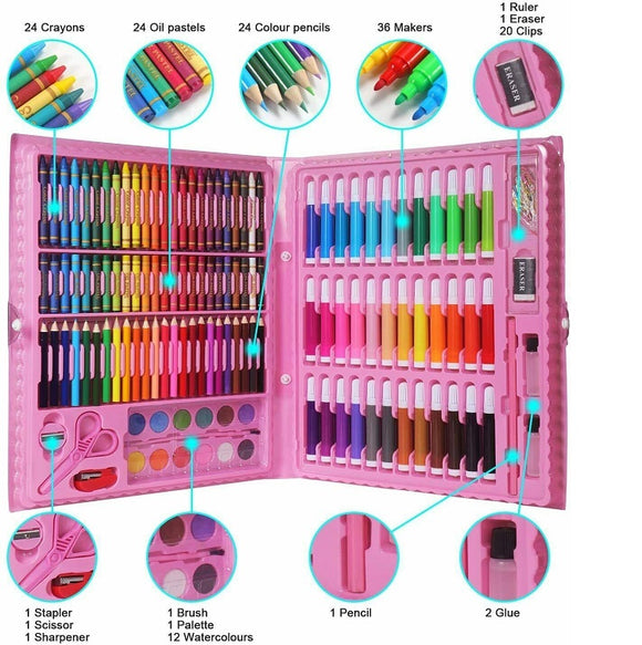 Multi Colour Pencil Set Box (150pcs) PINK