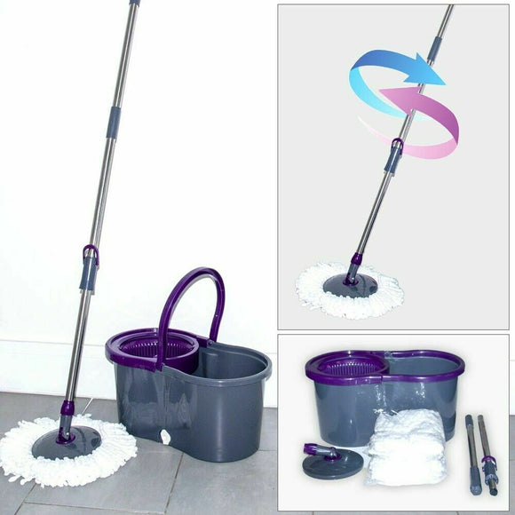 Bucket Cleaning Mop Dark Grey