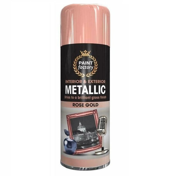 Paint Factory Metallic Rose Gold Spray Paint 400ml